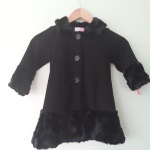 Girls 3T dress coat with faux fur